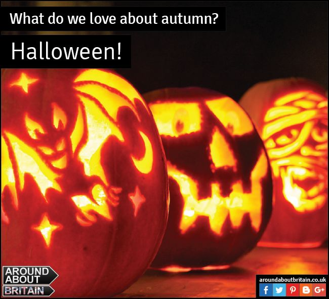 What do we love about Autumn? Halloween! Carve a pumpkin for those trick or treaters and then indulge in a lovely pumpkin soup. #Britain #Halloween #Autumn #Soup #PumpkinSoup