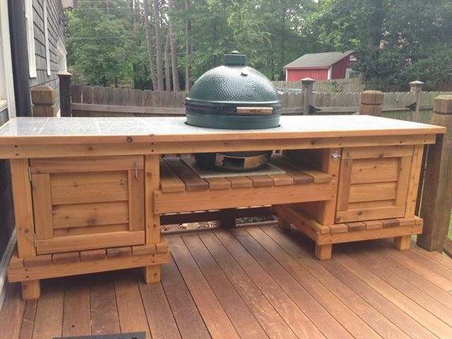 Dual Chest End Egg Table | Rip Some Wood! | Pinterest | Egg, Grill Table  And Big Green Egg Table