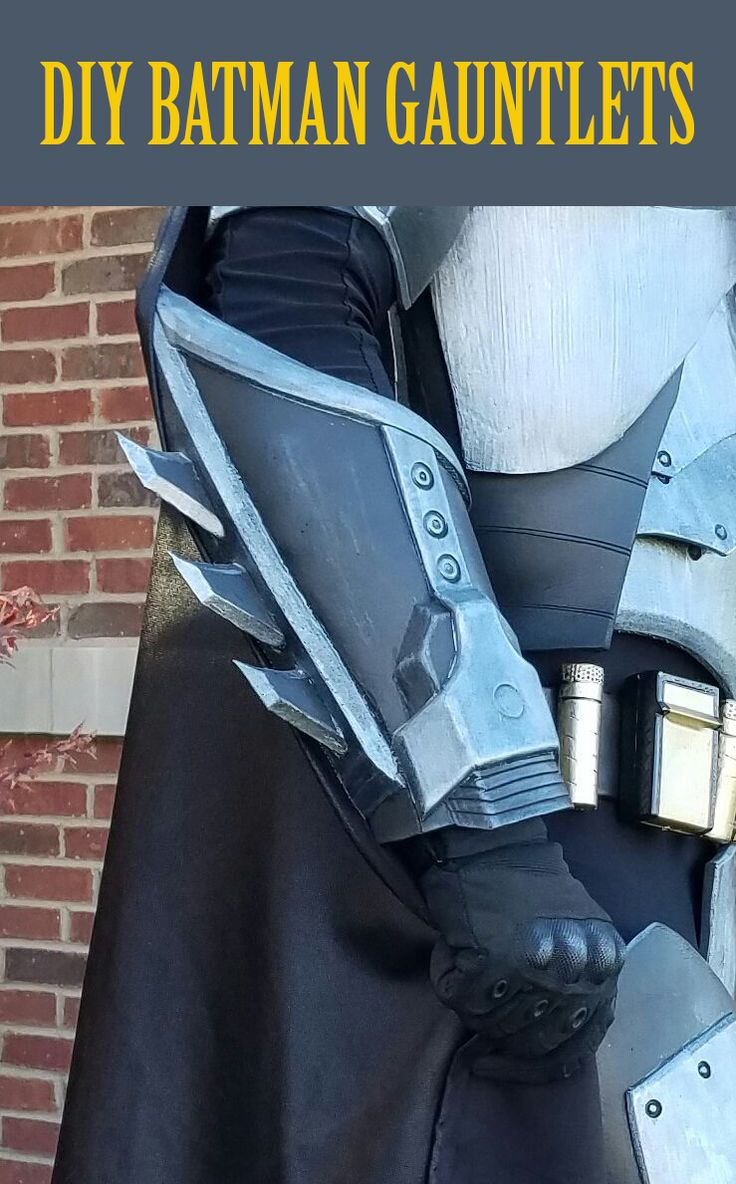 How to make Batman gauntlets for your next epic Halloween costume!