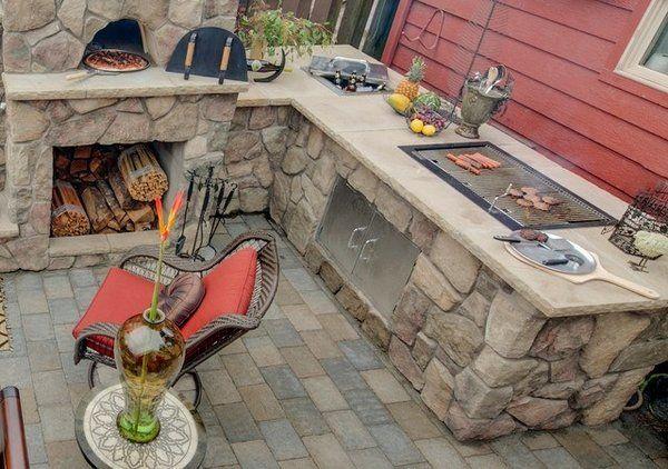 Terrassenküche Tipps mit Pizzaofen Grillbereich