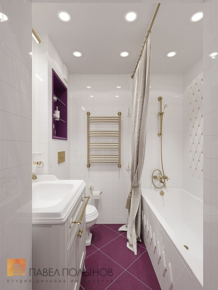 Фото: Дизайн интерьера ванной комнаты - Трехкомнатная квартира в Пушкине в стиле легкой классики, 73 кв.м.