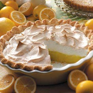 Classic Lemon Meringue Pie - I made this for the first time last night and the filling was  AMAZING! I doubled the recipe for a thicker filling and used sweetened whipped cream instead of meringue.