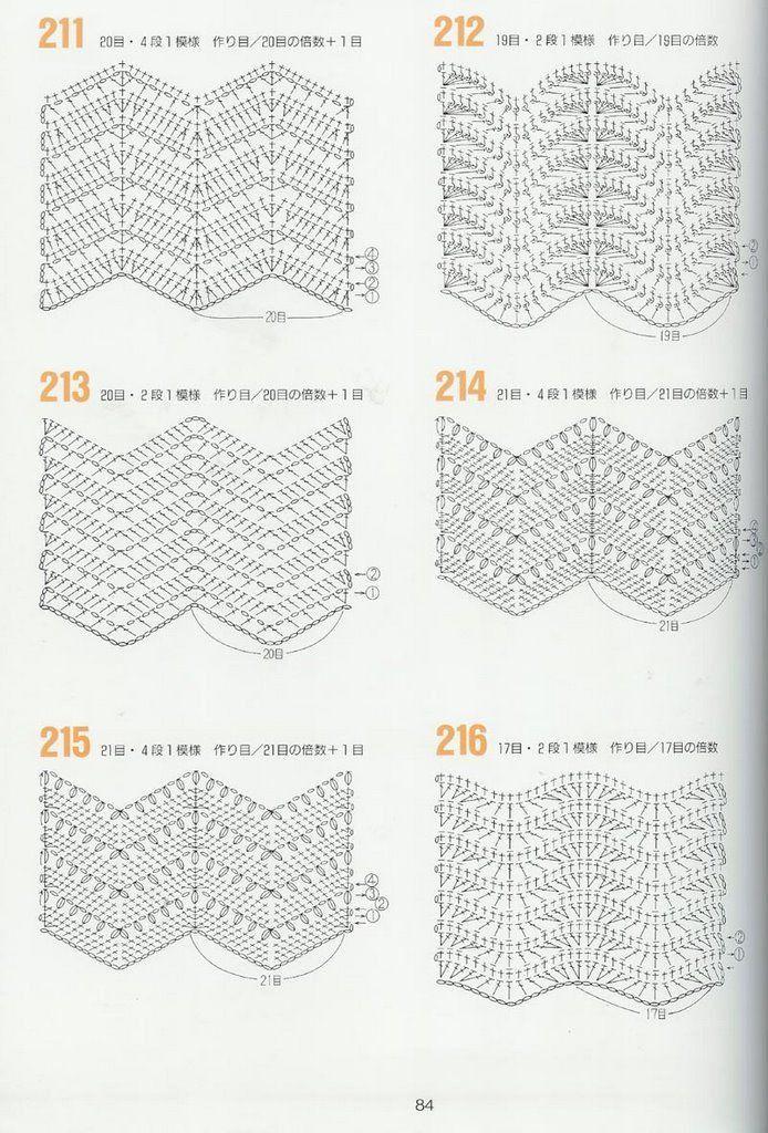 Háčkování vzory 262 --- háčkování grafiky - Basil - Basil blog