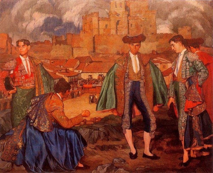 Ignacio Zuloaga y Zabaleta (España 1870 – 1945).  Idolos futuros o torerillos