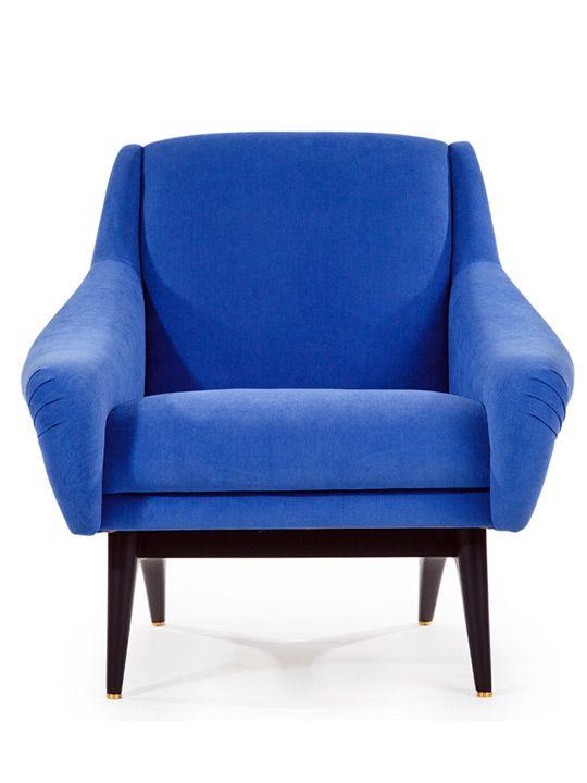1950s Blue Lounge Armchair | The Odd Piece