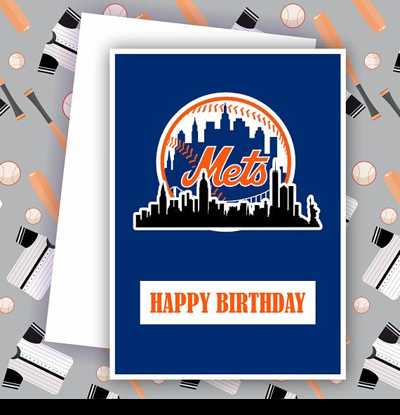 Mets New York Mets Fan Baseball Team Card Baseball Greeting Card Unique Cards Cards Happy Fathers Day