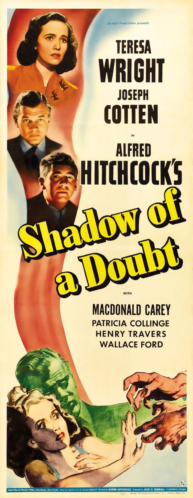 Shadow of a Doubt (1943) Teresa Wright, Joseph Cotten, Macdonald Carey, Patricia Collinge, Henry Travers