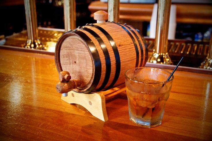 1 Liter Personalized Mini Whiskey Barrel by themanregistry on Etsy, $60.00. Yes!