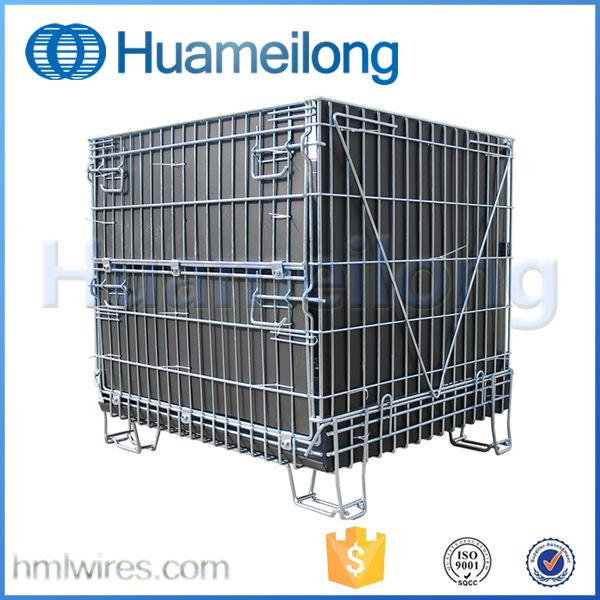 China heavy duty stackable welded steel storage containers