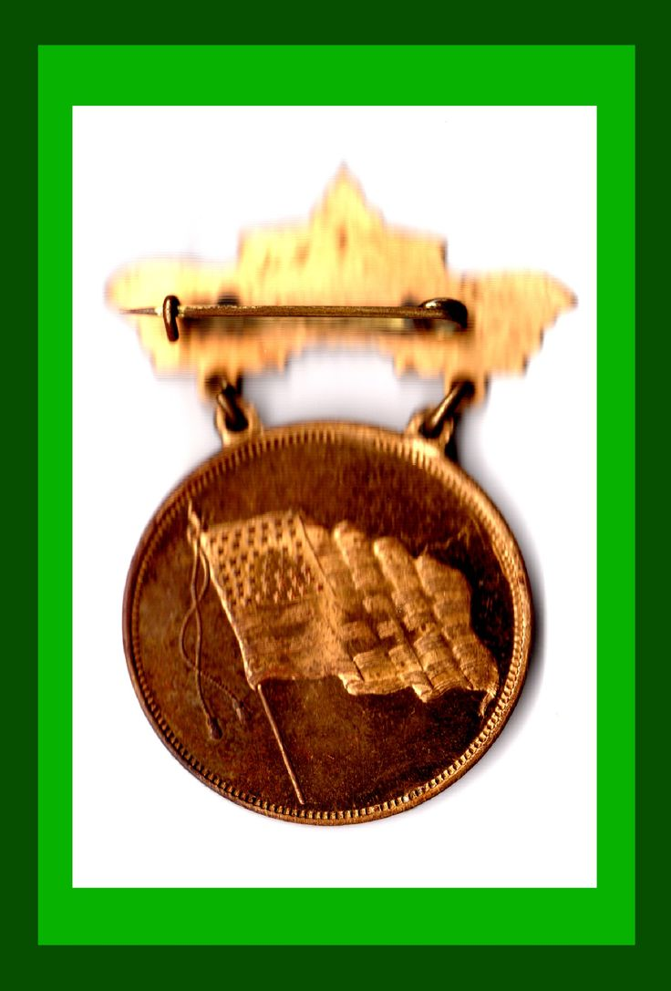 1912 Golden Potlatch -- Medal with Flag rev.  Statehood for New Mexico (47)and Arizona (48) 1912 This one of first medal uses with 48 star flag.