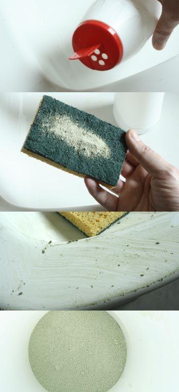 Fabriquer produit émail ( sel fin bicarbonate, argile blanche )