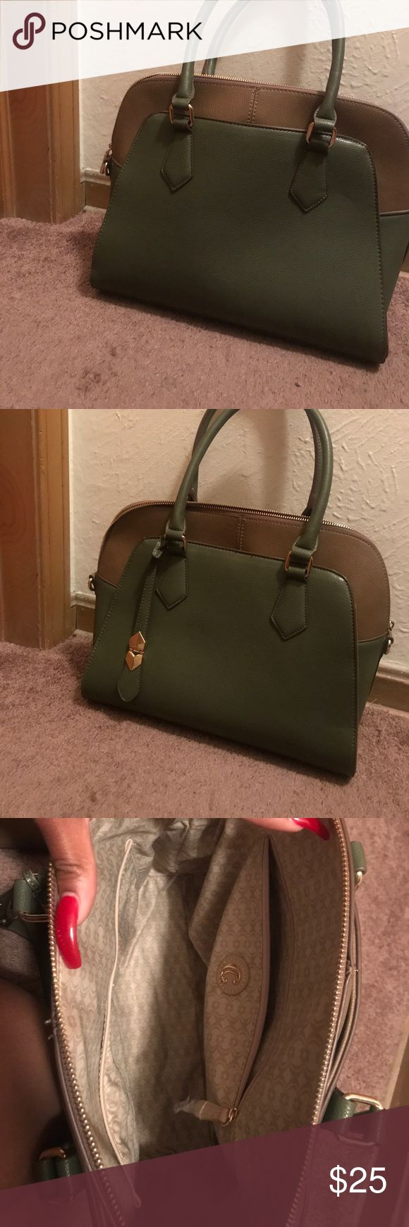 Olive Green Charming Charlie Satchel Olive Green Dome Satchel Charming Charlie's Most Recent Fall Collection! Only Worn Once. I'm Great Condition! She Needs A New Home! Charming Charlie Bags Satchels