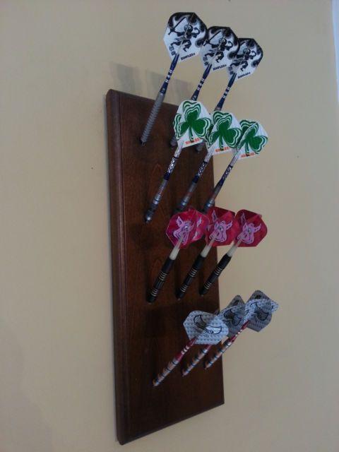 Custom Made Wooden Dart Holder Display Rack Walnut | eBay