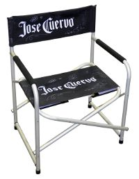 Add matching accessories to your exhibition stand. Begin with Directors' Chairs. Made of durable aluminium and fully custom-branded, you can get 2 units at a remarkable price. Email: sales@rightstuff,tv or quotes@rightstuff.tv www.rightstuff.tv
