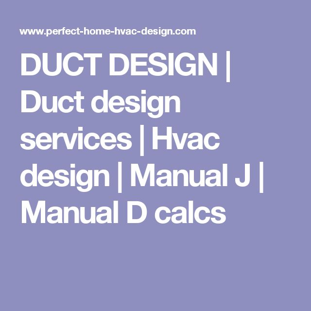 Amazing Hvac Duct Design Guide Pictures