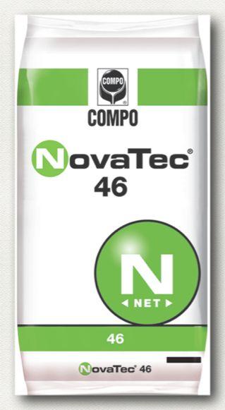ΚΟΚΚΩΔΗ ΛΙΠΑΣΜΑΤΑ_NovaTec_NovaTec 46 Σύνθεση: 46% N καρβαμιδικής μορφής, 100% υδατοδιαλυτό.  Υδατοδιαλυτό λίπασμα με παρεμποδιστή νιτροποίησης του αζώτου (DMPP), κατάλληλο για κάθε καλλιέργεια.  Συσκευασία: σάκοι των 40 κιλών.