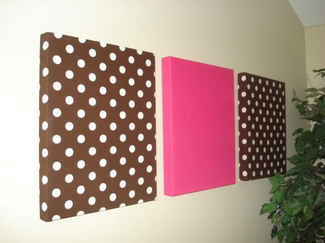 fabric covered wall decorations