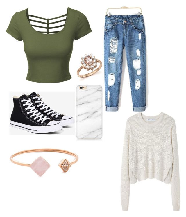 First outfits hope you like by sophievanderkooy on Polyvore featuring polyvore, fashion, style, Proenza Schouler, LE3NO, Converse, Michael Kors, Bloomingdale's and clothing
