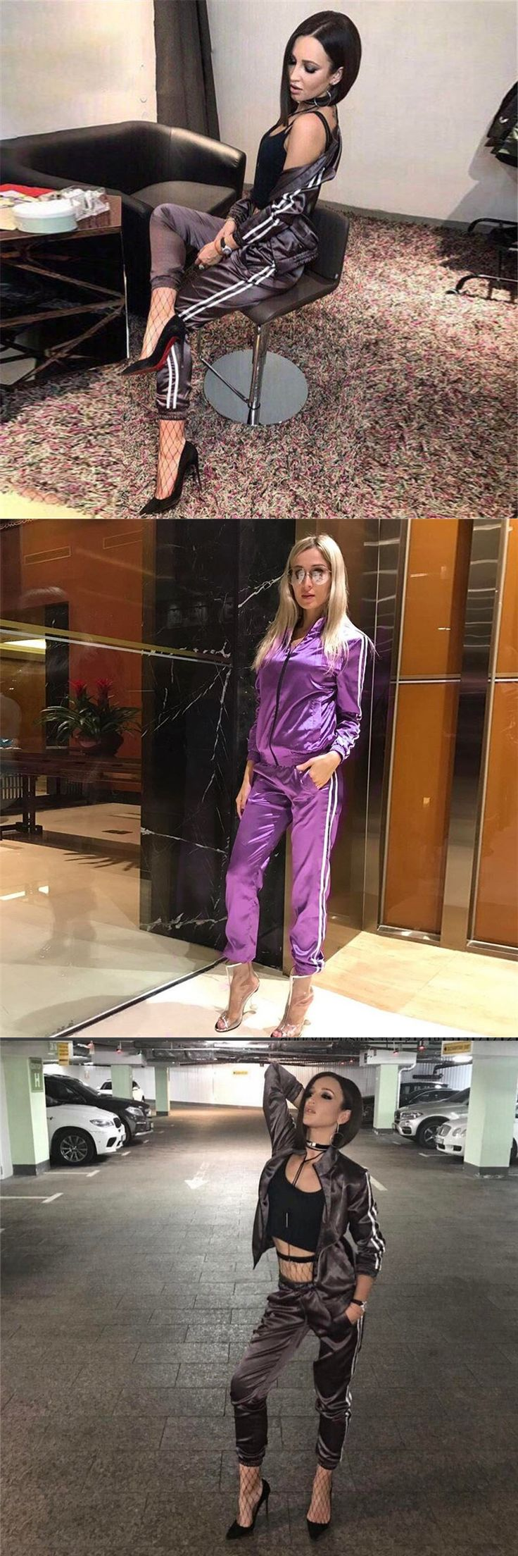 Newest Sexy Playsuit Women 2017 Brand Tracksuit Crop Long Top Woman Long Pants 2 Two Piece Set Women Casual Sweatsuit Set T00