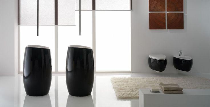 @pinterestscarab rinnova il tradizionale #design dei #sanitari e del #lavabo, e ci propone la linea  #Moai. Forme morbide e tondeggianti che trasformano il concetto di #arredobagno-  www.gasparinionline.it - #bagno #arredo #interiors #mobilibagno #bathroom #interni #italiandesign #homestyle