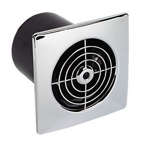 Manrose Chrome Ceiling / Wall Mounted 20W Extractor Fan + Timer £19
