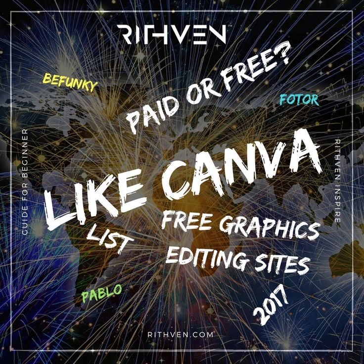 Image editing sites like Canva in 2017. List of good and free graphics editing sites.