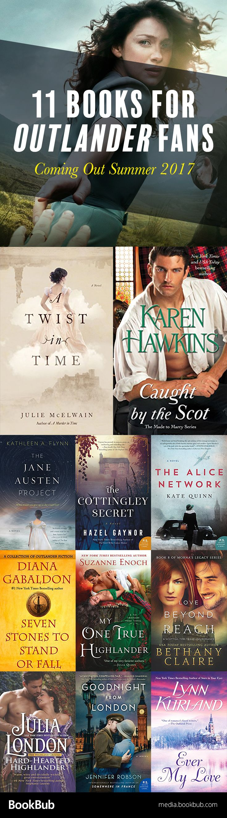 11 books if you like Outlander, including hot romances, history books, time travel novels, and other great books for women.