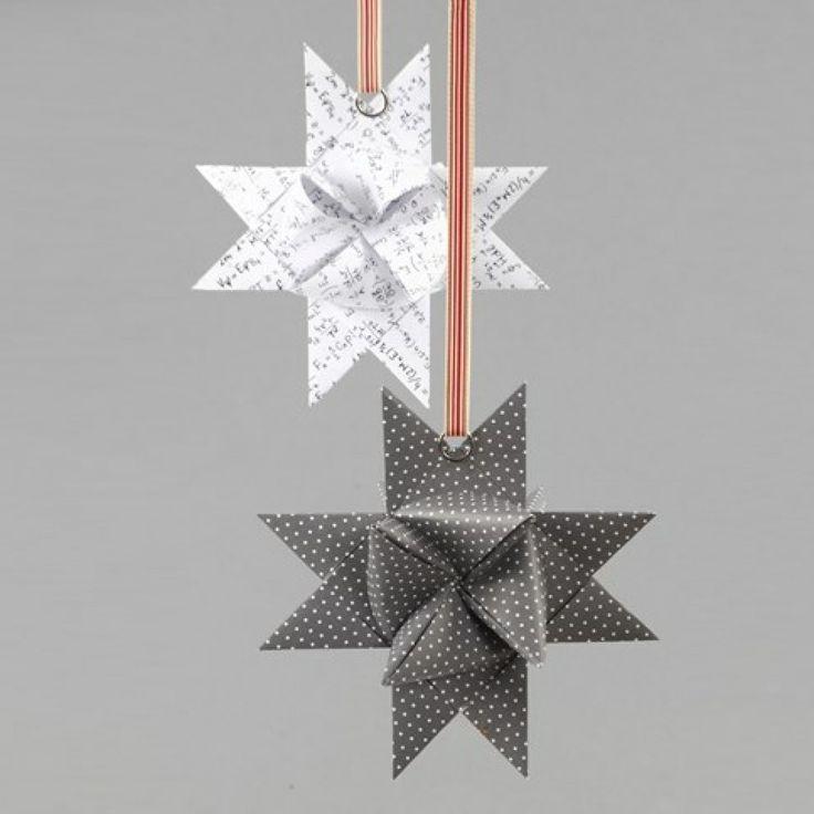 Splittring på flettet stjerne av papir i design fra Vivi Gade | DIY veiledning