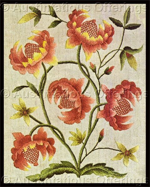 1000+ Images About Crewelwork,Jacobean Embroidery On