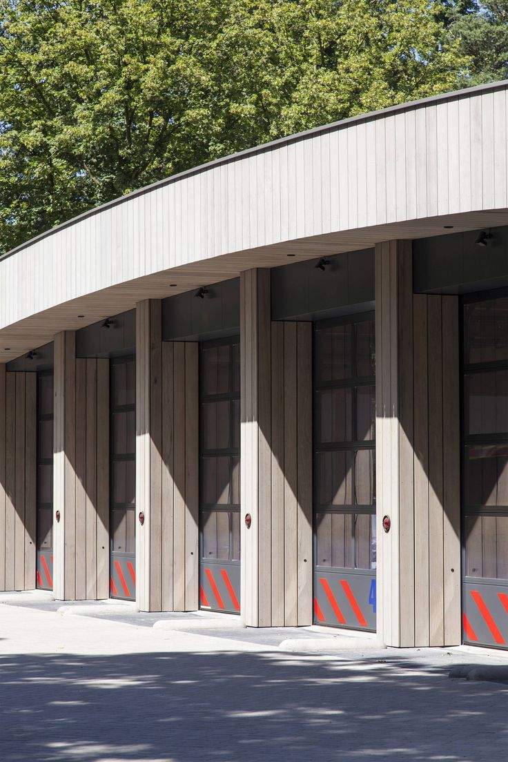 Ambulance station by Architectenforum features plant