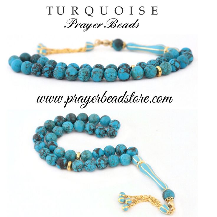 Turquoise Prayer Beads enameled with Sterling silver.     Turkuaz Tesbih 925 ayar gümüş mineli #prayerbeads #tasbih #tesbih #mala