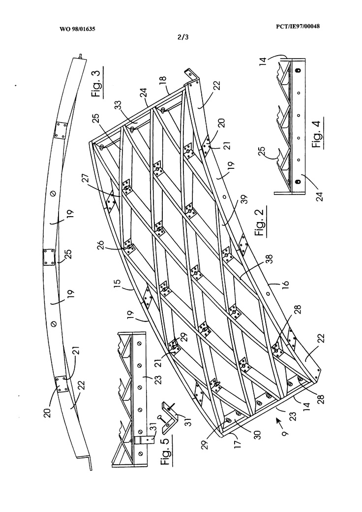 Method For Lamella Roof Construction Shell Constructions