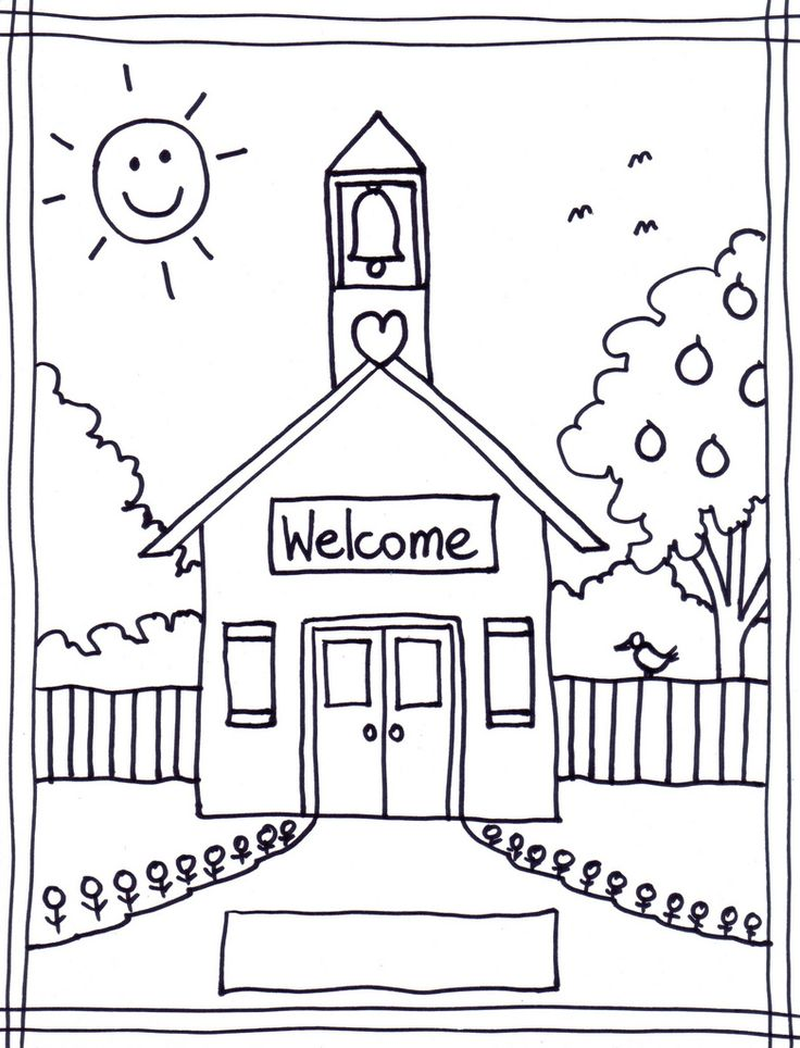 coloring pages of school house coloring pages wallpaper - School Coloring Pictures
