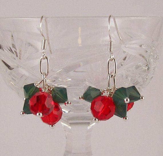 Shake It Up Pom Swarovski crystal Christmas Holiday by ilovemy1984, $15.00