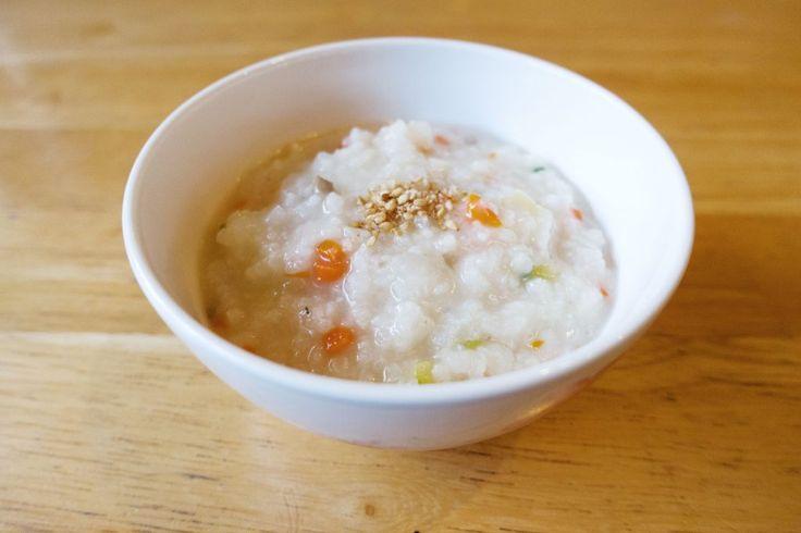 yachae juk - korean vegetable rice porridge