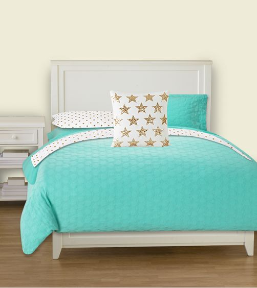 Superieur Bedding Design Created On PBTeen.com: Tiffany Blue And Gold Inspired By  Kate Spade