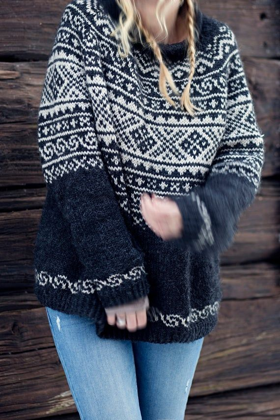 Knitting Pattern Beautiful Norwegian Setesdals Sweater Etsy Norwegian Sweater Casual Sweaters Sweaters