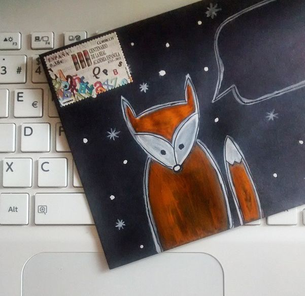 Sweet Fox Envelope made by www.instagram.com/stormyweather_ Find more Snail Mail ideas and penpals on www.snailmail-ideas.com or go to the webshop www.snailmailideas.etsy.com