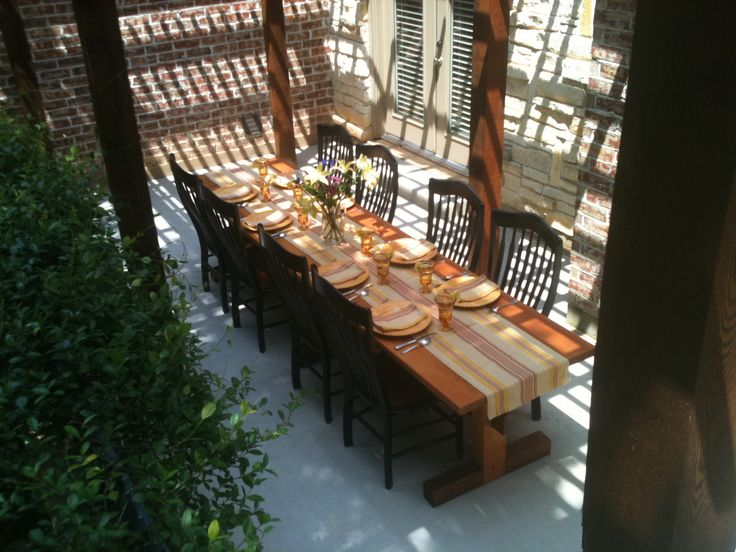 Best 10 Rustic outdoor dining tables ideas on Pinterest Rustic