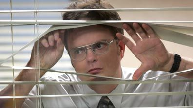 dwight k. schrute in his glasses