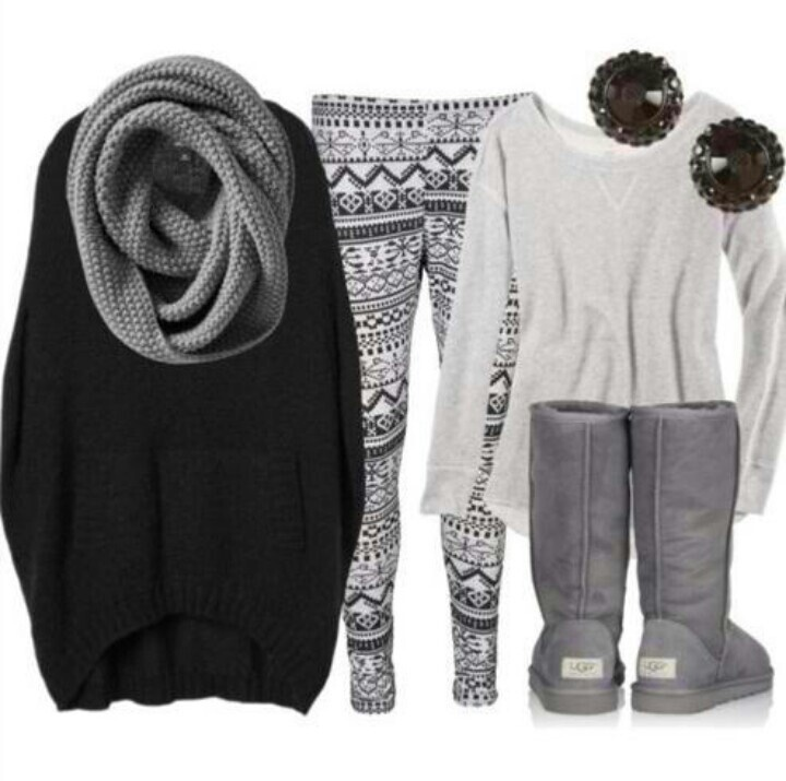 Aztec Leggings Comfy Winter Or Fall Outfit My Style