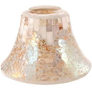 Yankee Candle Jar Shade - Large - Gold and Pearl Mosaic - This would be SO perfect for the bathroom!!
