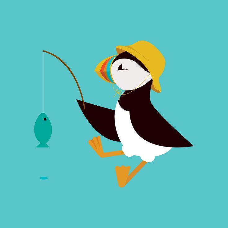 Little puffin fisherman! www.nicoletan.co.uk