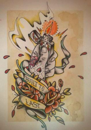 Zippo lighter design / tattoo sketch