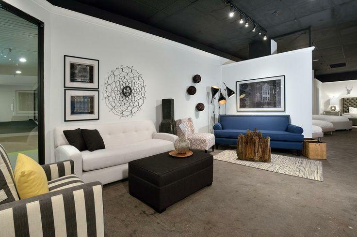 Space shown at the Van Gogh Showroom 2014. #GlenandJamie #Design #sofa #chair #ottoman #art #lamp