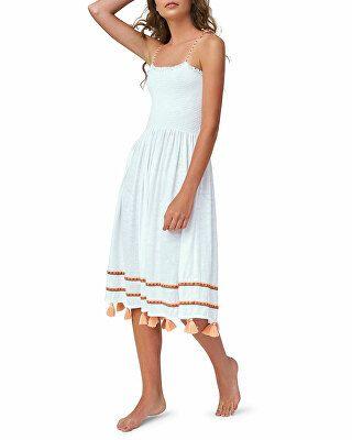 bd2265e40b Pitusa Designer Bella Smocked Midi Coverup Dress with Tassels ...