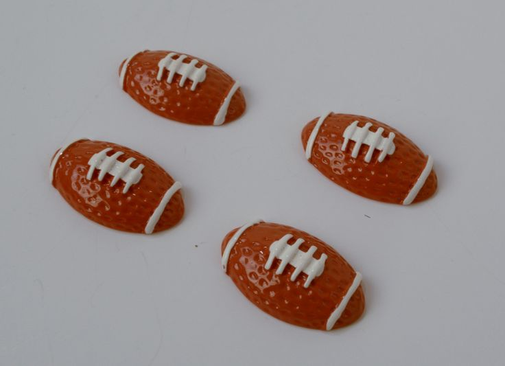 American football Resin sports Cabochons Flat Backs Scrapbook Hair Accessory making Supplies Embellishments