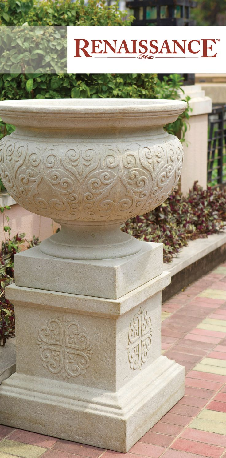 Renaissance is our latest range of quality GRC planters, urns and pedestals. The increasing demand for GRC (Glass Reinforced Concrete) garden products is ever increasing, and Northcote Pottery is keeping up with the trends. Stronger and lighter than traditional concrete products, with a lower environmental impact, GRC ticks all the boxes! And these versatile pieces add a touch of classic style to any setting. http://www.northcotepottery.com/pottery/renaissance