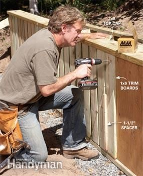 How to Build a Retaining Wall  The simplest, cheapest, back-friendliest retaining wall in history