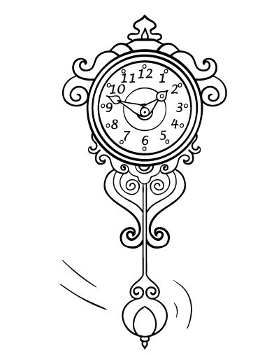 Printable Clock Coloring Page Free PDF Download At Coloringcafe Coloring Pages Clock